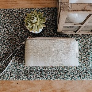 Handbags - Gold clutch/wristlet